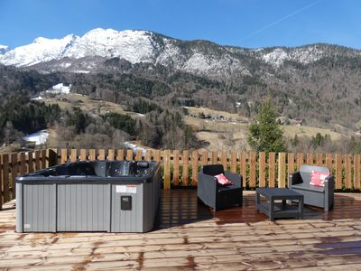 Photo for Chalet near Lac D'ANNECY comfort well being jacuzzi wifi pets allowed