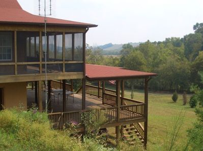 Two huge decks provide comfort, space and great outdoor views.