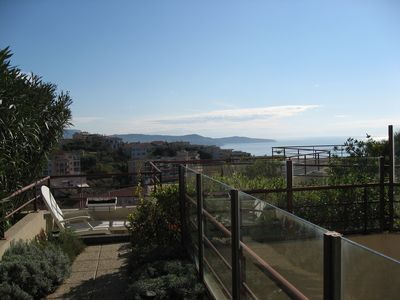 Photo for Apartment in residence with swimming pool, large panoramic terrace and parking
