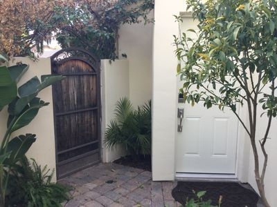 Private entrance to your home away from home.