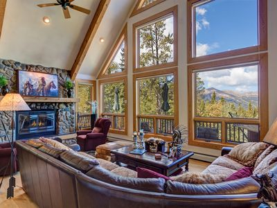 Photo for MAJESTIC VIEWS FROM EVERY ROOM, BEAUTIFULLY DECORATED SURROUNDED BY WOODS