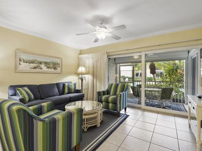 Photo for Villa Sanibel 3A, 2 Bedroom Condo with Ground-level Access, Overlooks Pool