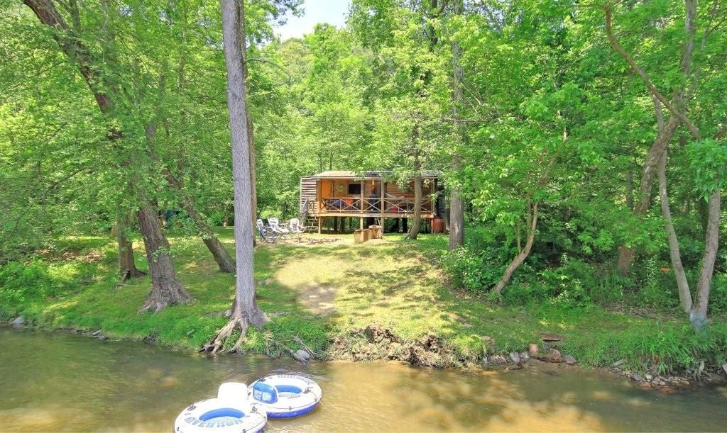 Unique Private Island Cool Rustic Glamping Cabin On