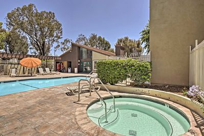 Enjoy exclusive access to a community pool and hot tub!