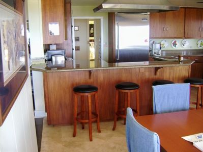 Newly remodeled kitchen; dining for 8-12