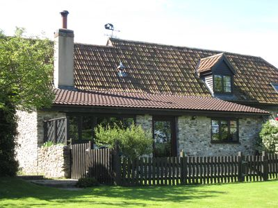 Photo for Country cottage, single storey, wood burner, dog friendly, near Jurassic Coast.
