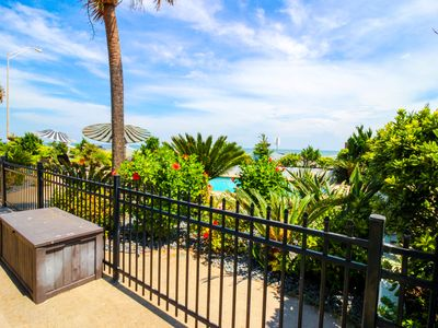 Photo for Stylish, dog-friendly condo on Seawall Blvd w/ shared pool