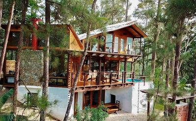 "Photo for Secluded Cabin w/Jacuzzi! Villa ""El Barco Ebrio"" - Quiet Mountain Getaway"
