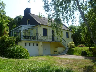 Photo for Quiet house in the countryside with views of the Nantes-Brest Canal