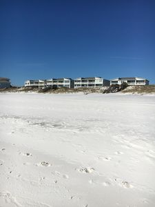 Beach in front of the complex