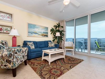 Photo for Spacious top-floor condo at Waterscape! Free beach chairs! 490 feet of pristine, private beach!