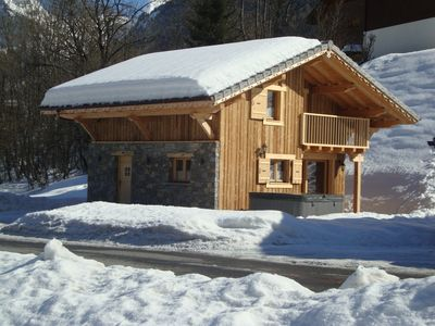 Photo for CHALET VERY COMFORTABLE - SPA - Ski Resort Grand Massif