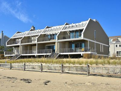 Photo for DIRECT OCEANFRONT, FREE ACTIVITIES! - right on the beach with no dunes, 5 bedroom, 3 bath townhome in North Bethany.