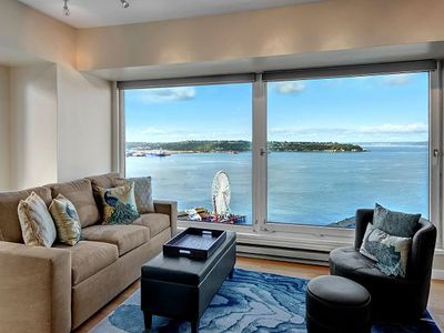 Photo for Enjoy the Best Views in Seattle from this Luxury Condo Above Pike Place Market!