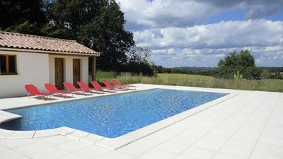 Photo for Lovely, large house, very comfortable and well equipped with private saline pool