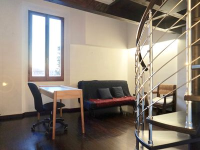 Photo for apartment with loft mezzanine Meloncello Bologna