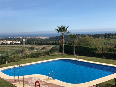Photo for Quiet, modern apartment with sea view between Marbella and Malaga