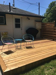 back yard deck