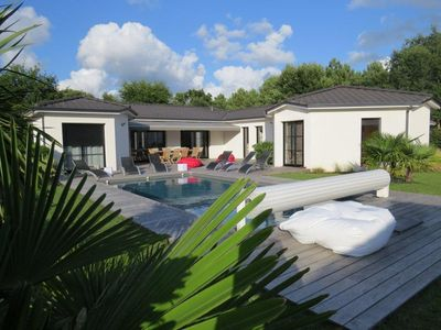 Photo for MODERN VILLA WITH HEATED SWIMMING POOL IN AREA OF ANDERNOS LES BAINS
