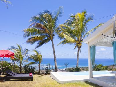 Photo for In Rodrigues, beautiful little house with magnificent sea view and pool