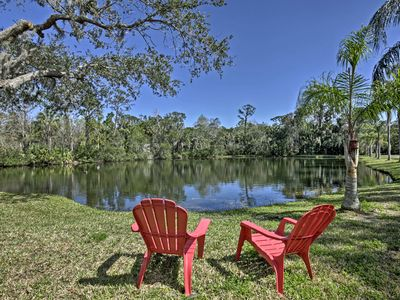 Photo for Port Orange Studio on 3+ Acres w/Fishing Pond/Dock