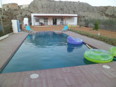 Photo for Country house, cortijo, fenced, not overlooked, with private pool