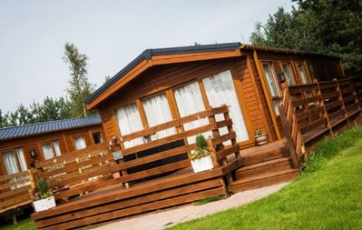 Photo for The Chillingham, Dog Friendly Hot Tub Lodge, Felmoor Park