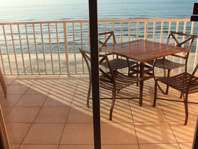 Absolute beach front unit, large balcony (extra cleaning steps)