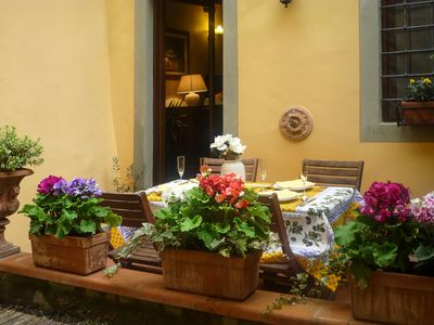 Photo for Perfect Private Terrace Foodie Neighborhood-Value-AC-Washer-Real Florence-WiFi