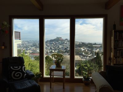 Photo for Hilltop Home W/stunning Views, Full Of Light, Deck, Gardens.