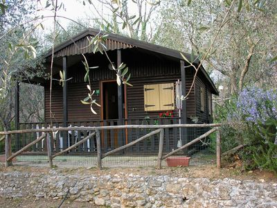 Photo for Detached bungalow with veranda and AC 1,2 km. from the sea