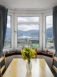 Wonderful elevated panoramic Highland views from the dining table