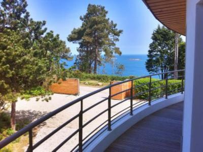 Photo for Very peacefull villa, nestled at the beautiful afforested tip of Penn Al Lann, Carantec, Britanny. Rent at 50m from the see.