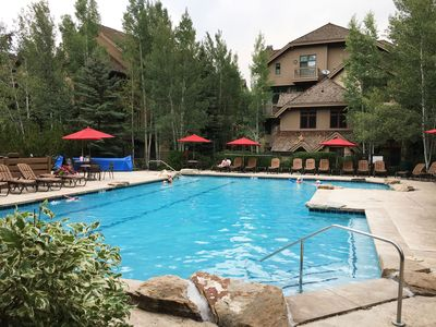 Pool - Enjoy access to Arrowhead Village amenities including a heated pool and hot tubs, as well as a fire pit in the winter.