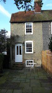 Photo for A romantic, quiet, traditional and cosy 'sussex stone' cottage.