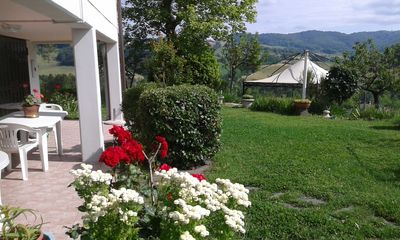 Photo for Apartment in a country house with a wonderful view over the hills