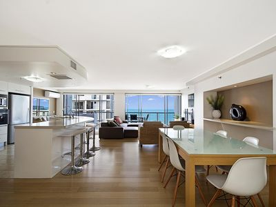 Photo for Spacious 2 storey penthouse with amazing ocean views in the heart of Mooloolaba.