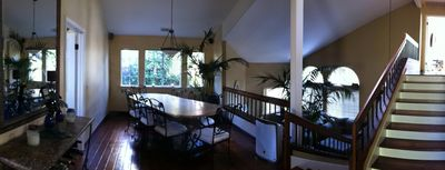 Dining Room and stairs to Master Bedroom and upper Guest Bedroom