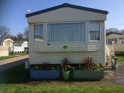Photo for Ultra  Clean Caravan on beautifully maintained site near Christchurch
