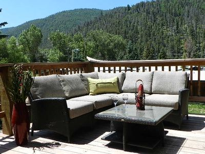 Photo for *4 nights $699* In town cabin-2 living, 2 King-LARGE deck