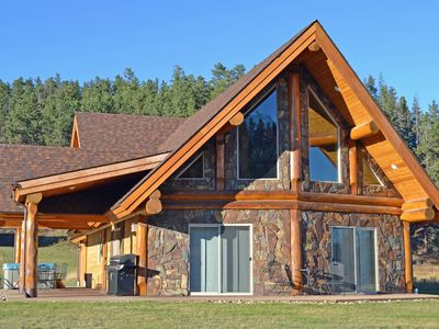 Photo for Gorgeous Log Home In Convenient Location With Tree View Near Mickelson Trail
