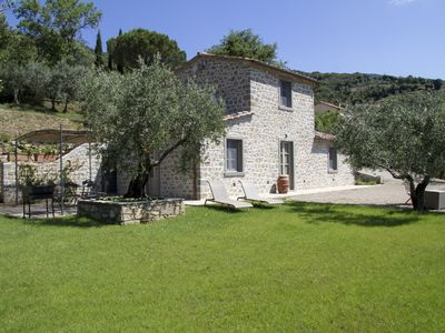 Photo for Recently restored villa with swimming pool overlooking Val di Chiana