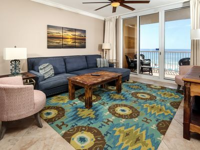 Photo for Spacious, Gulf Front unit, 2 beach chairs included, Walk to Dining and Entertainment