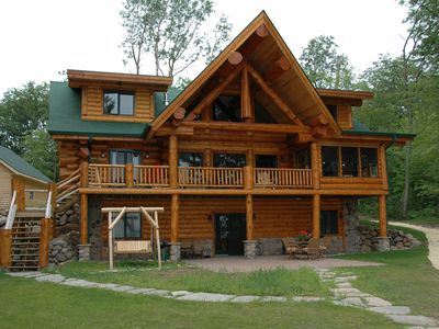 Photo for Magnificent 4200 square foot handcrafted log home vacation rental