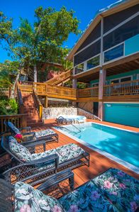 Photo for Beach Front Home between West Bay & West End with private pool, wifi & kayaks