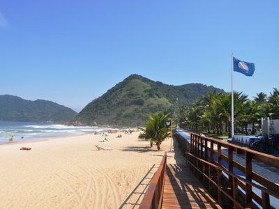 Photo for Apartment one block from the beach of Tombo- Guarujá