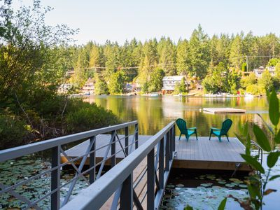 Photo for Rustic Lakefront Cabin with Private Dock