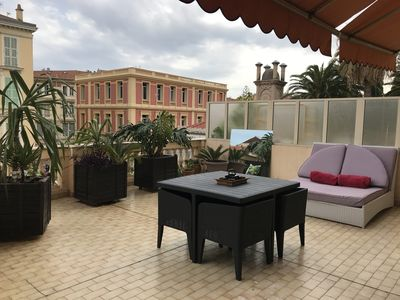Photo for TERRACE APARTMENT IN OLD PALACE IN THE CITY CENTER Seaside at 150 m