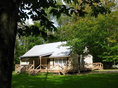 Photo for Remote cabin 17 miles from Wellsboro. Sleeps 10,  family friendly, 5 bedrooms.