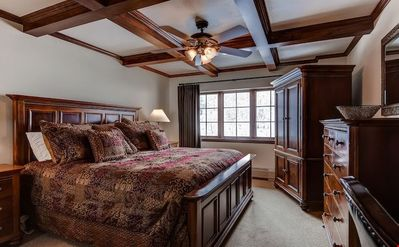 Get a good night's rest in the spacious master bedroom. Bedding configurations vary.